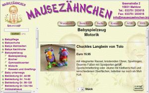 Onlineshop Mausezähnchen